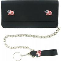 Premium US Flag Leather Wallet