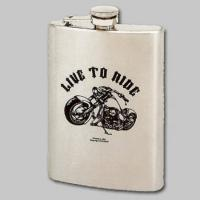 Live to Ride Motorcycle Stainless Steel Hip Flask