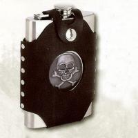 Skull & Cross Bones 8 oz. Stainless Steel Flask