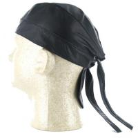 Black Leather Biker Headwrap