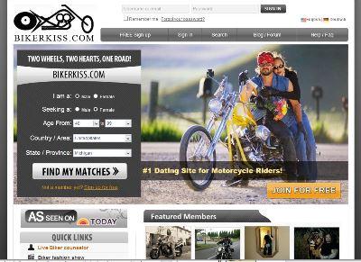 BikerKiss.com Biker Dating Site