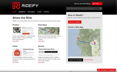 Rideify.com Biker Social Network