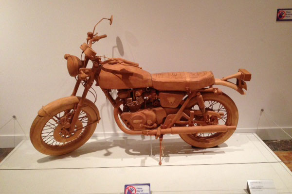 Wooden Motorcycle at DIA by Yoshimura